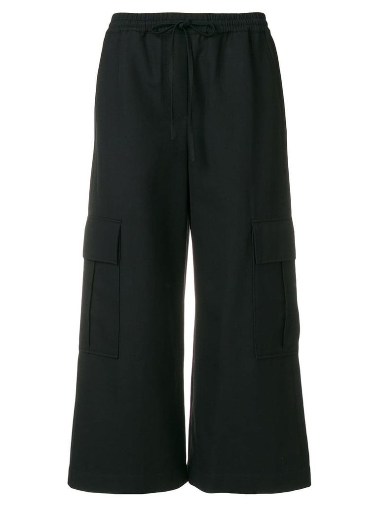 Kenzo cropped trousers - Black
