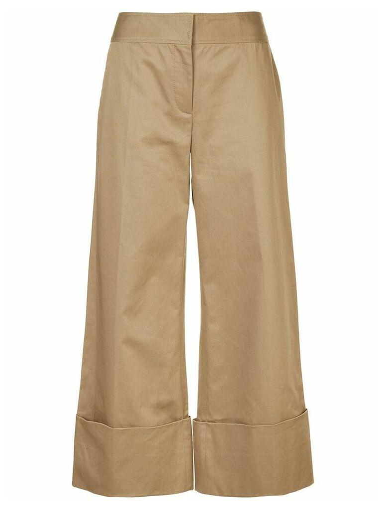 Monse wide leg cropped trousers - Brown