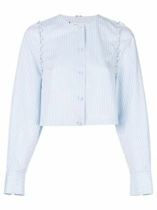 Thom Browne Bridal Button University Stripe Poplin - Blue