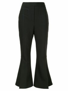 Ellery flared cropped trousers - Black
