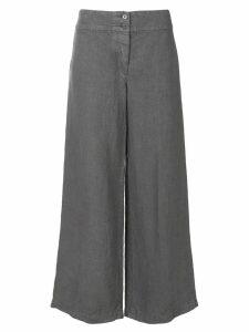 Aspesi wide leg cropped trousers - Grey