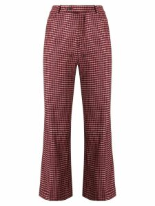 Chloé checked cropped trousers - Red