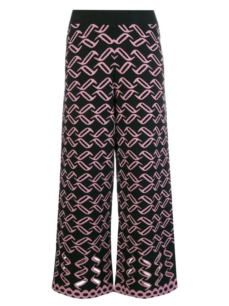 Temperley London patterned knit culottes - Black