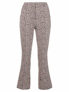 Dorothee Schumacher printed slim cropped trousers - PINK