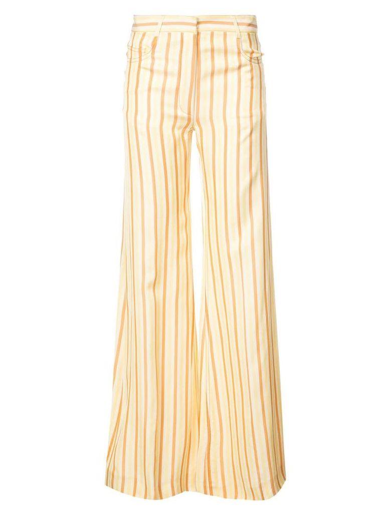 Sonia Rykiel long striped trousers - Yellow & Orange