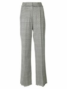 MSGM plaid flared tailored trousers - Black