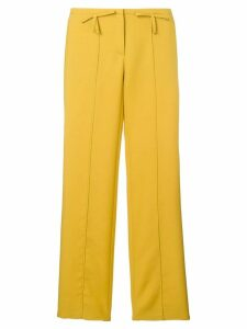 Valentino bow detail flared trousers - Yellow