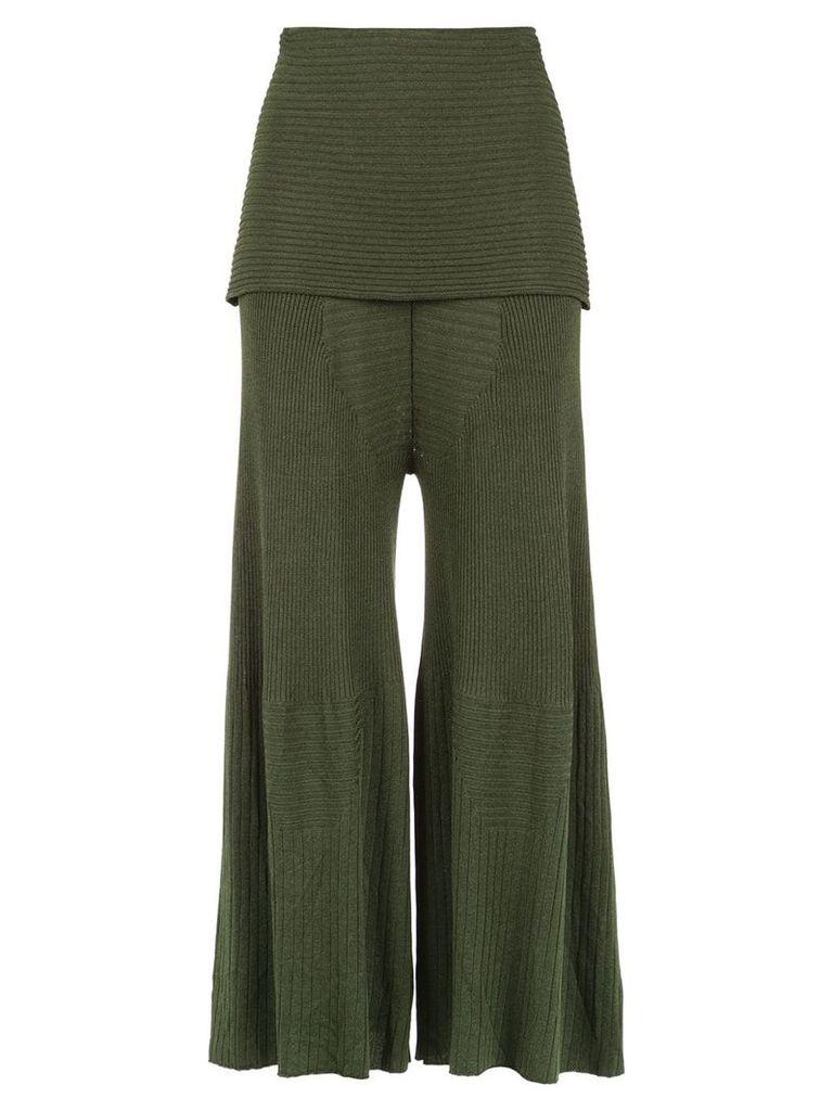 Osklen overlay knit trousers - Green