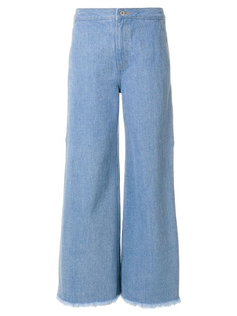 Neul flared fitted trousers - Blue