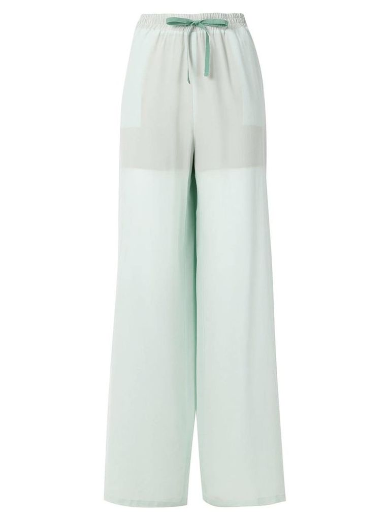 Semicouture wide leg trousers - Green