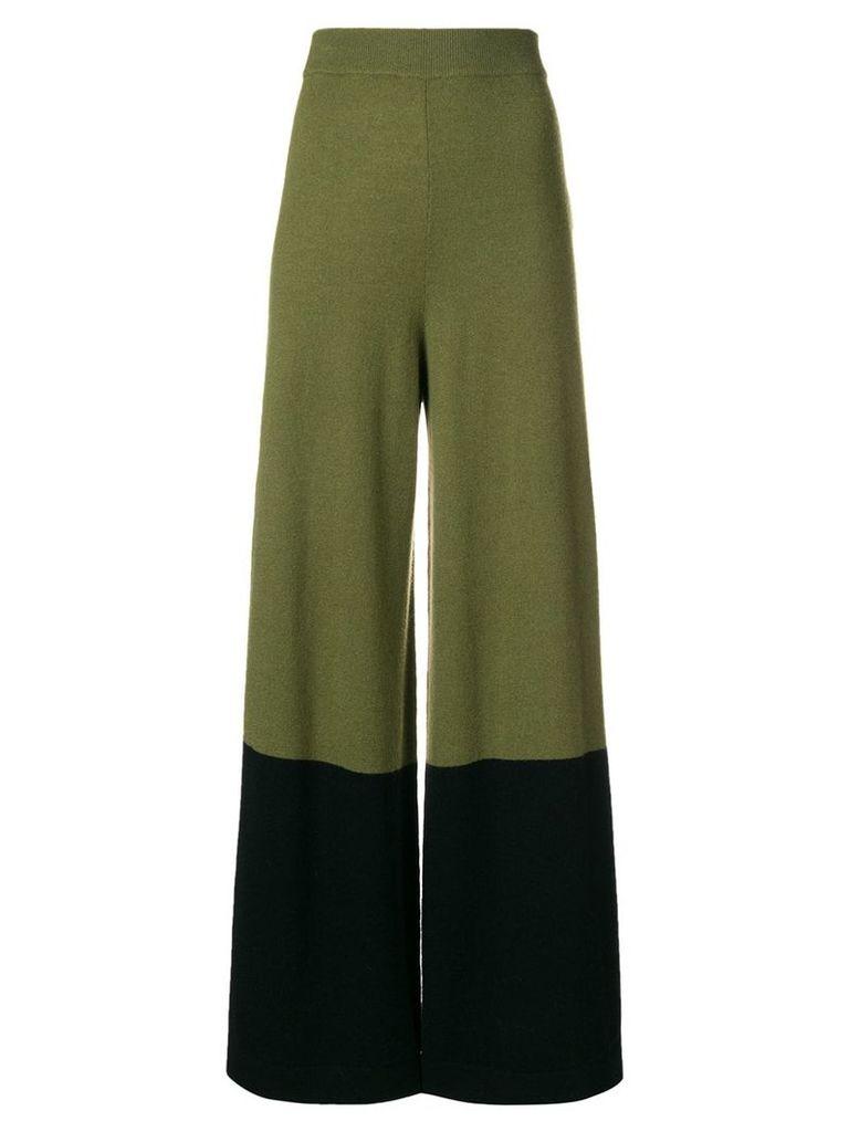Temperley London Explorer knit trousers - Green