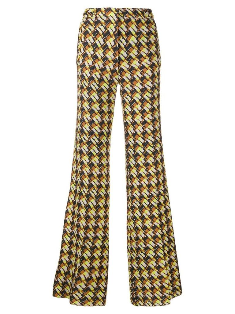 Rochas 'sixties' printed trousers - Brown