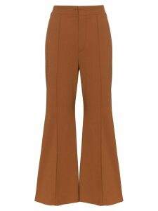 Chloé bell bottom trousers - Brown