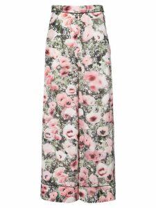 Fleur Du Mal floral print wide-leg trousers - Multicolour