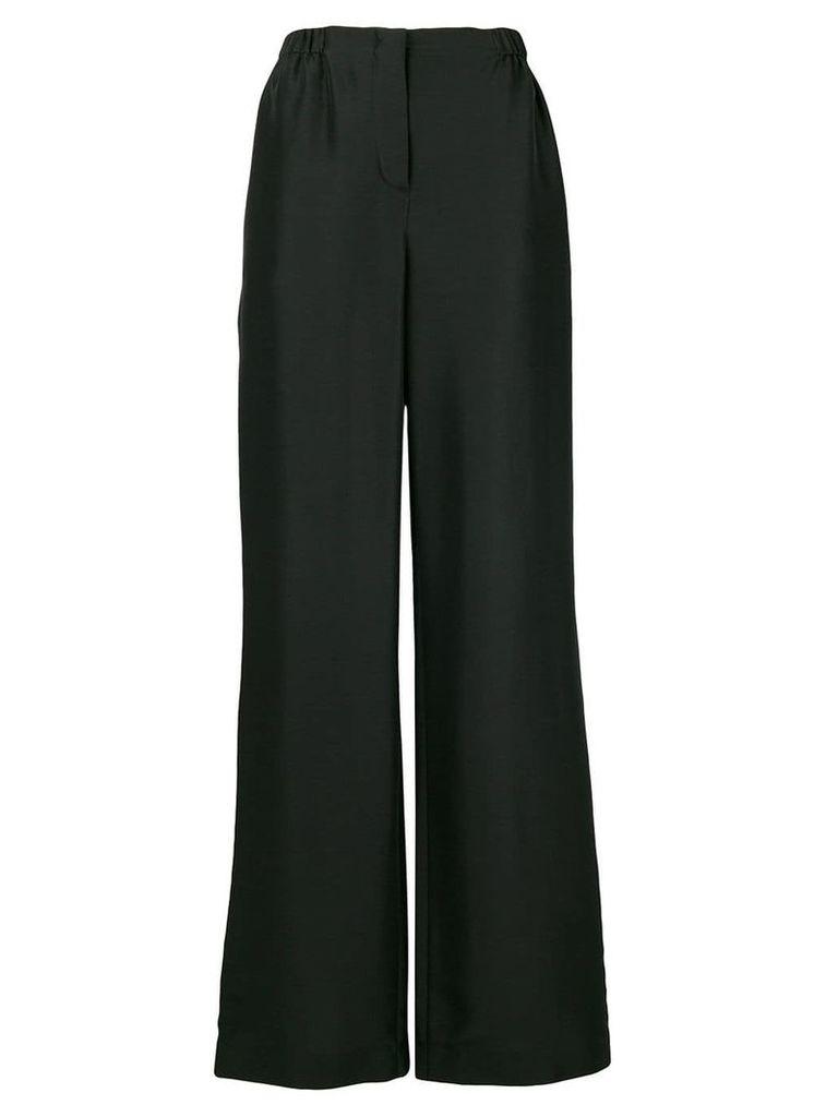 Alberta Ferretti high waisted wide leg trousers - Black