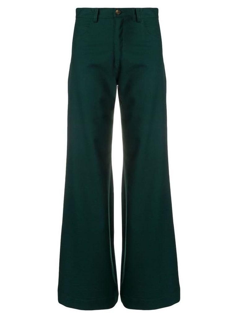 Société Anonyme classic wide-leg trousers - Green