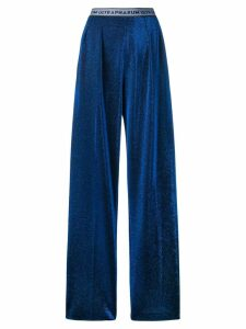 Marco De Vincenzo metallized pull-on trousers - Blue