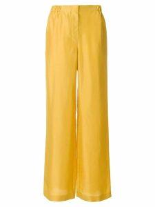 Alberta Ferretti high-waist flared trousers - Yellow