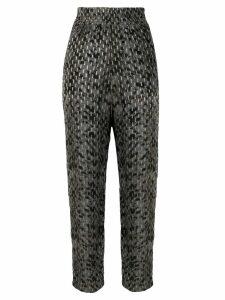 IRO printed high-rise trousers - Grey