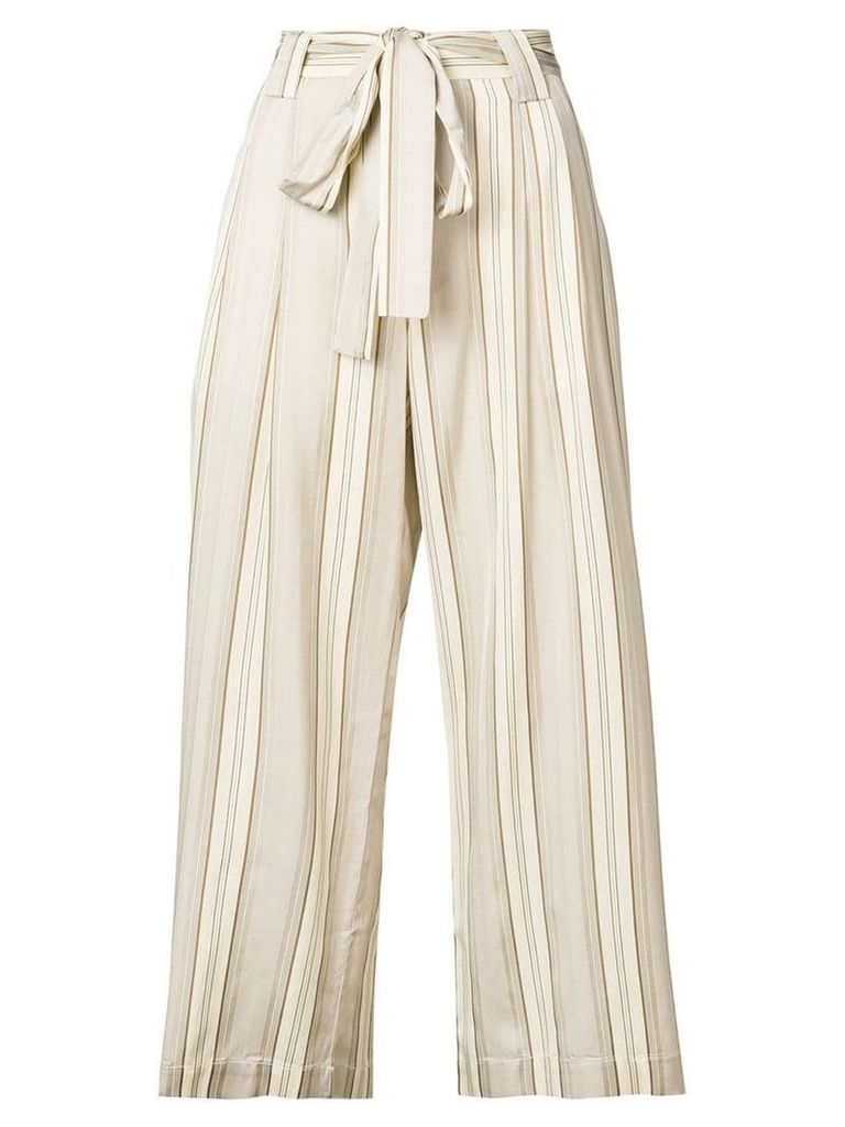 Roberto Collina high-waisted tie trousers - Nude & Neutrals