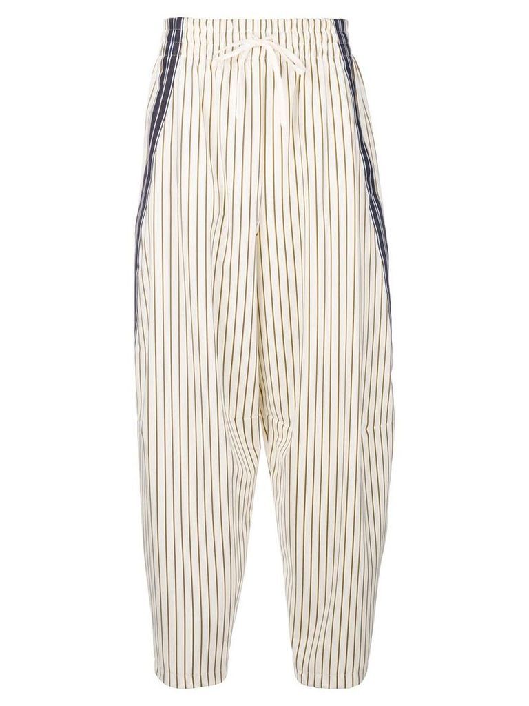 See By Chloé pinstripe trousers - White