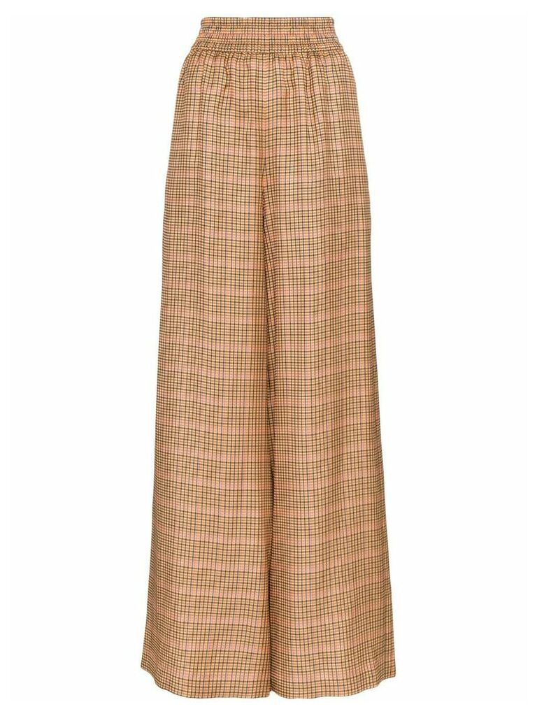 Golden Goose Deluxe Brand Sophie high-rise checked trousers - Brown