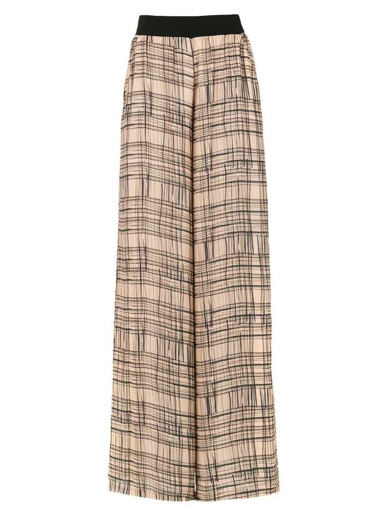 Mara Mac wide leg printed trousers - Brown