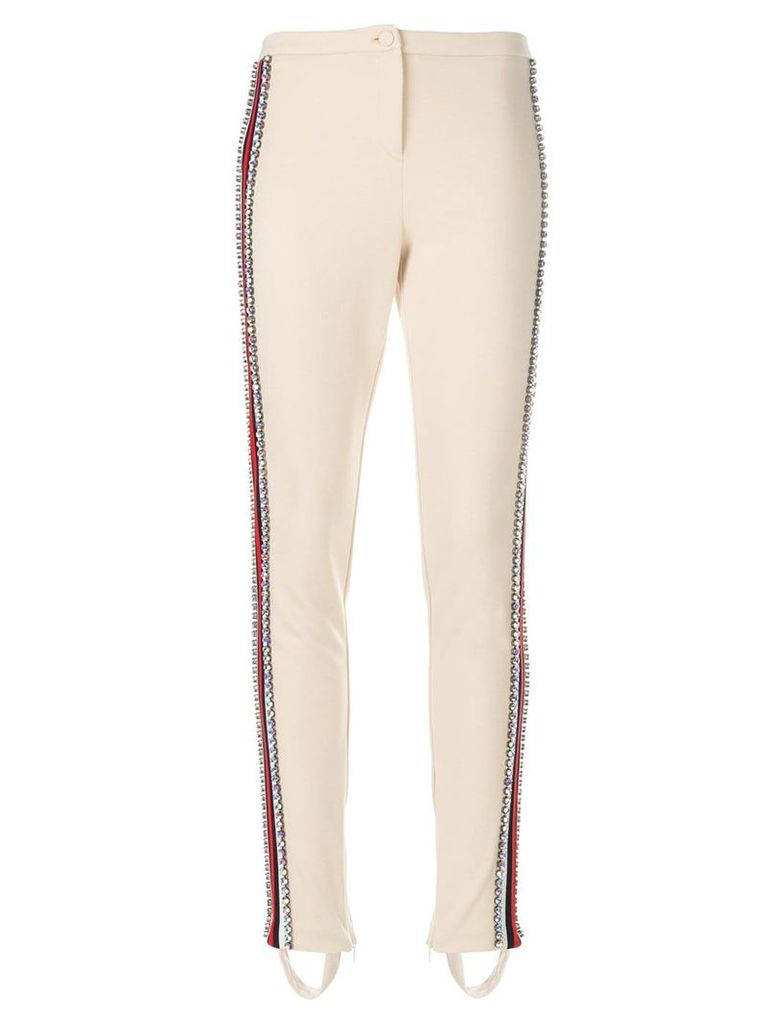 Gucci Technical jersey stirrup legging with crystals - Nude & Neutrals