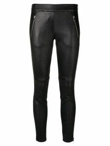 Alexander McQueen zipped leather leggings - Black