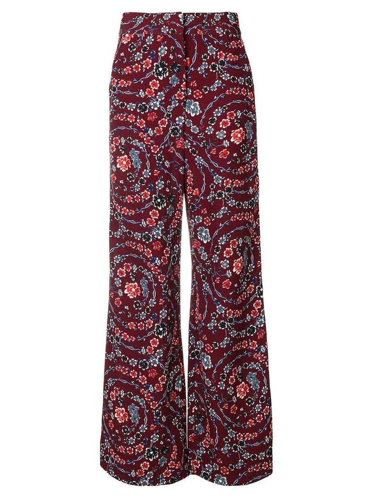 See By Chloé floral palazzo trousers - Pink & Purple