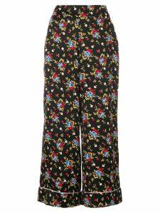 Vivetta floral wide-leg flared trousers - Black