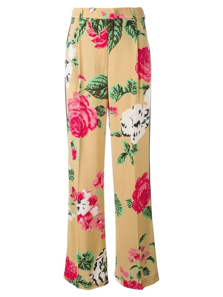 MSGM floral print trousers - Nude & Neutrals