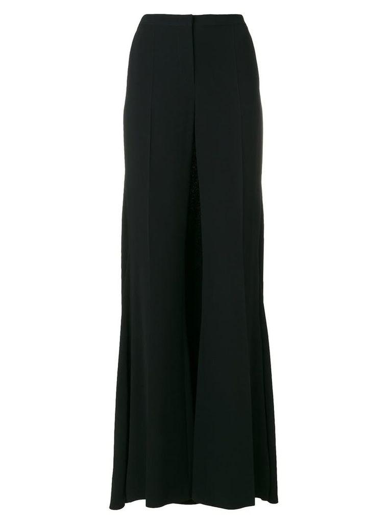 Alberta Ferretti formal palazzo trousers - Black