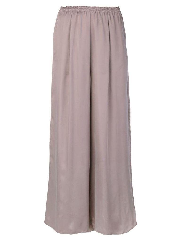 Forte Forte elasticated waistband wide-legged trousers - Pink & Purple