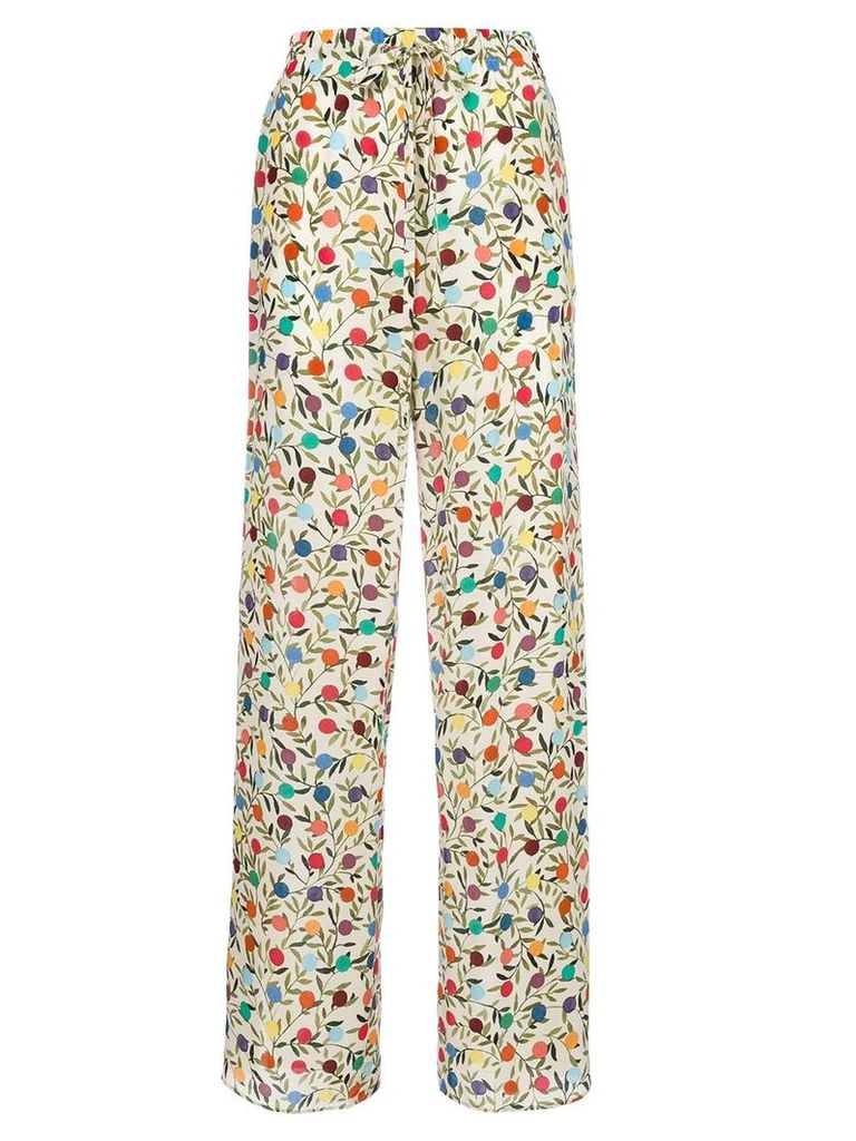 Red Valentino spotted print palazzo pants - Nude & Neutrals