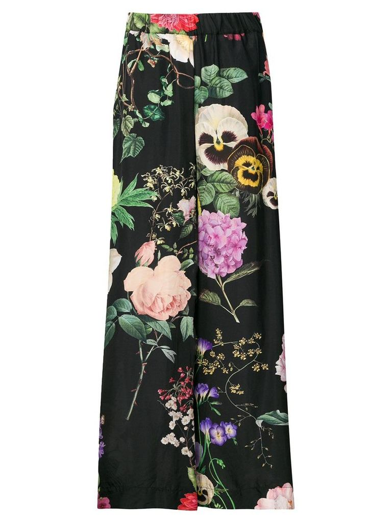 P.A.R.O.S.H. Pansy print trousers - Black