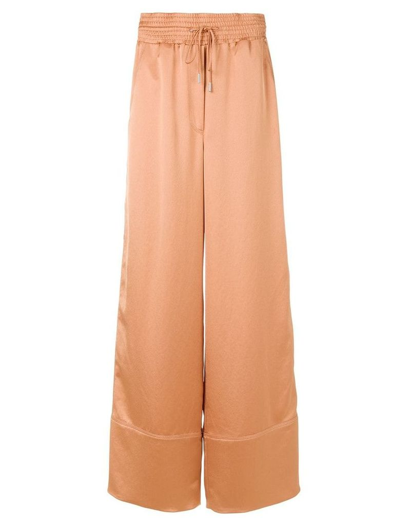 Off-White palazzo trousers - Nude & Neutrals