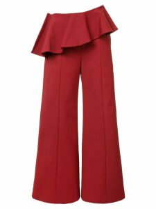Rosie Assoulin pleated trim palazzo pants - Red