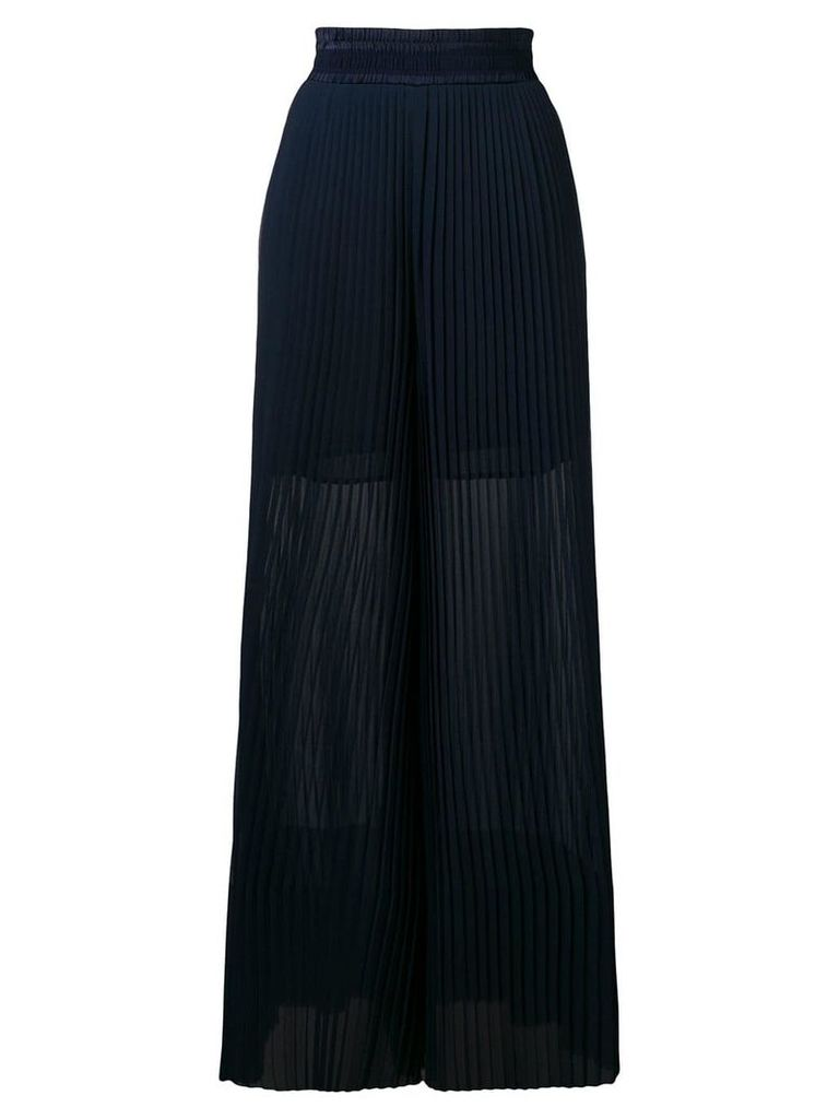Golden Goose Deluxe Brand Cygnuns pleated palazzo pants - Blue