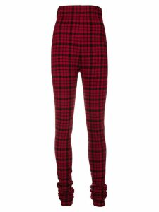 Philosophy Di Lorenzo Serafini checked high-waist trousers - Red