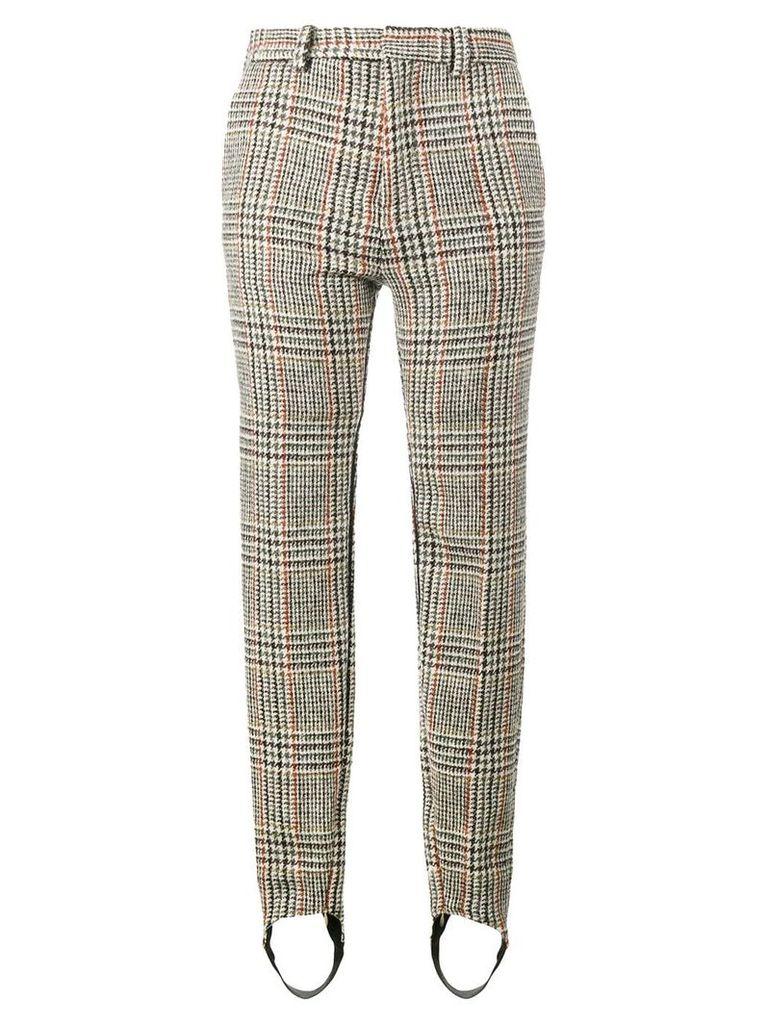 Y / Project tweed slim leg stirrup trousers - Nude & Neutrals