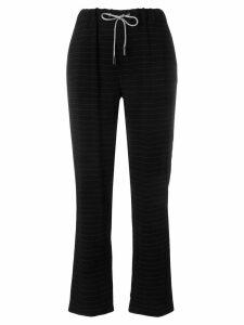 Eleventy striped trousers - Black