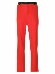 LANVIN straight-leg trousers - Red