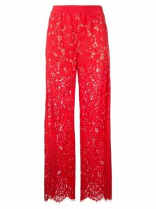 Goen.J lace straight trousers - Red