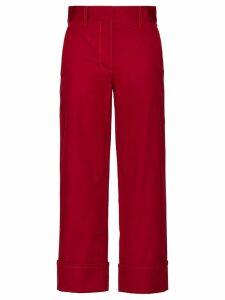Prada straight-leg trousers - Red