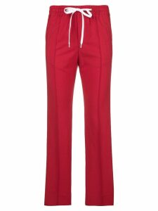 Miu Miu side-stripe track pants - Red