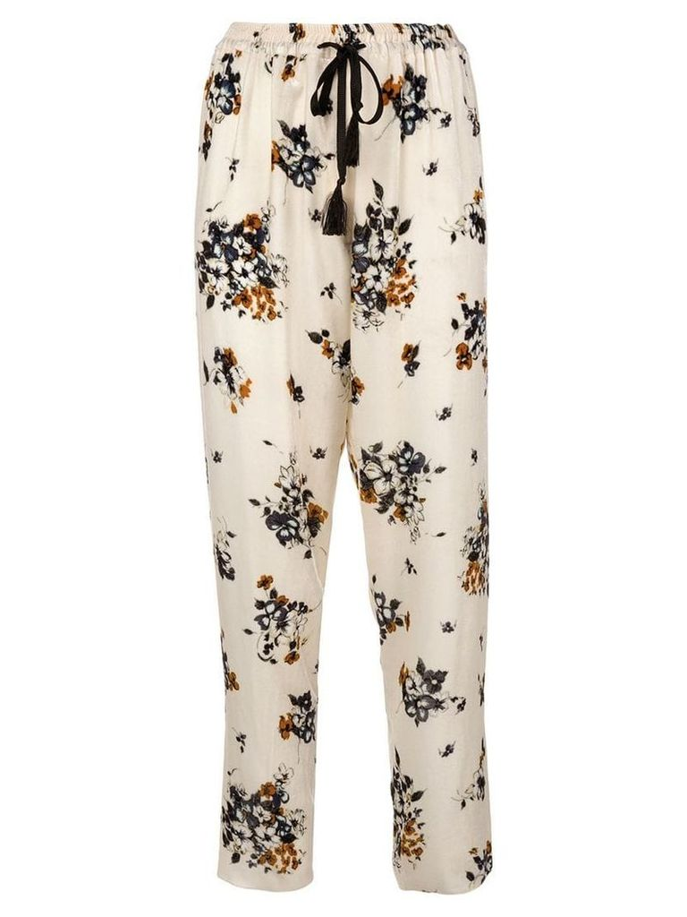 Forte Forte floral print trousers - White