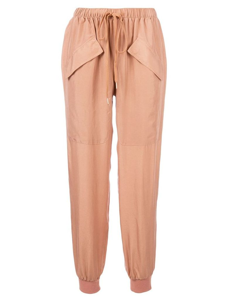 See By Chloé drawstring tapered trousers - Pink & Purple