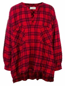 Faith Connexion checked shirt - Red