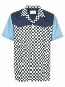 Ports V checkered and colour block print shirt - Multicolour